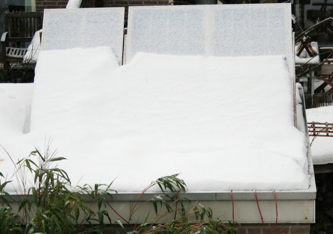 Winter 2010, snow on the panels.